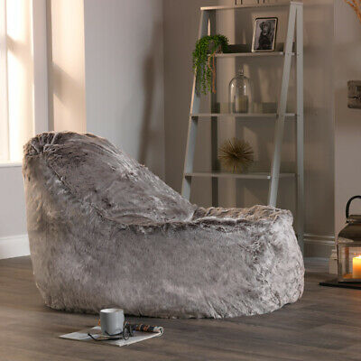 Cool Icon Dream Lounger Faux Fur Bean Bag Giant Beanbag Machost Co Dining Chair Design Ideas Machostcouk
