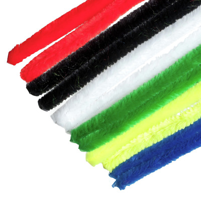 Multicolour Jumbo Chenille Sticks Pipe Cleaners 12mm x 30cm Trimits Craft 15 Pc