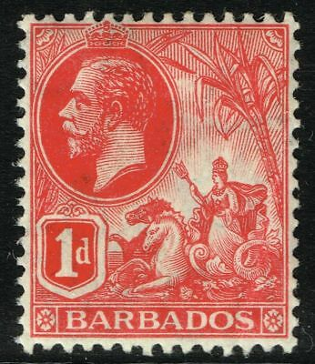 SG 172 BARBADOS 1912 - 1d RED - MOUNTED MINT
