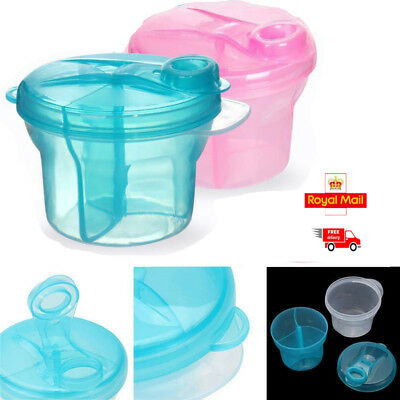 Milk Powder Dispenser 3 Dose of Baby Feeding Formula Storage Pot Container