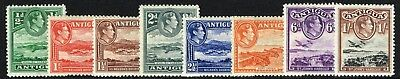 Sg 98-105 Antigua 1938 Definatives - Short Set To 1/-  Mounted Mint