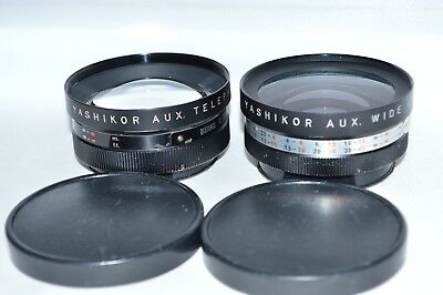 Yashikor Auxilary Lens Set # S905 Telephoto & Wide Angle 55 mm Screw-in (LN-118)
