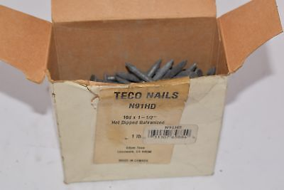NEW Lot of TECO NAILS N91HD 10d x 1-1/2'' Hot Dipped Galvanized Nails