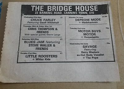 Depeche Mode 35 years old Bridge House advert Rare collectors item
