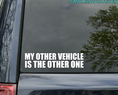 """MY OTHER VEHICLE IS THE OTHER ONE 8"""" x 2"""" Vinyl Decal Sticker - Grateful Dead"""