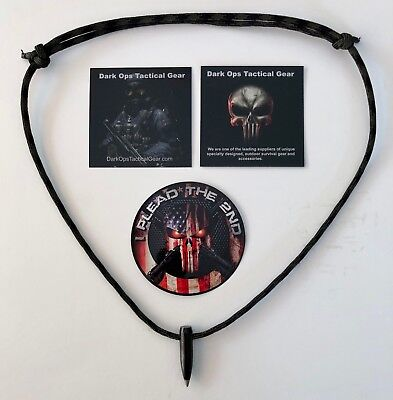Black Ops.. Sniper HOG Tooth  .30 Cal ..Paracord Necklace +1 Decal .Wood Camo