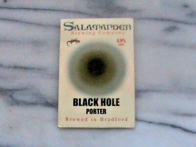 Salamander Black Hole Porter Real Ale Beer Pump Clip Sign