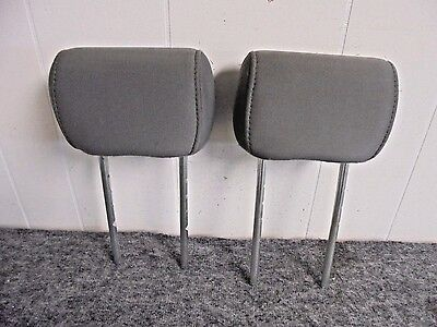 2004-2008 Ford F150 Gray Cloth Rear Headrest Right & Left Side  (Pair) Oem