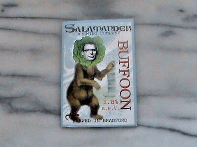 Salamander Buffoon Real Ale Beer Pump Clip Sign
