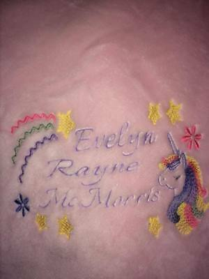 Personalized Baby Blanket for a Girl