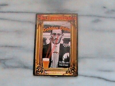 Salamander Golden Oldie Real Ale Beer Pump Clip Sign