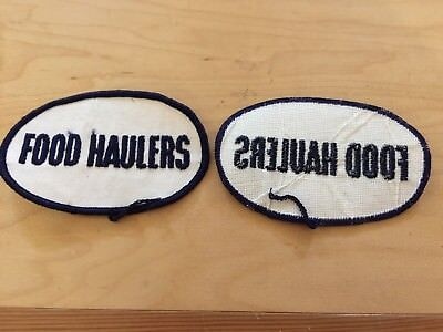 trucking patch, food haulers,new old stock,1970's,set of 2