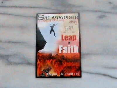 Salamander Leap Of Faith Real Ale Beer Pump Clip Sign