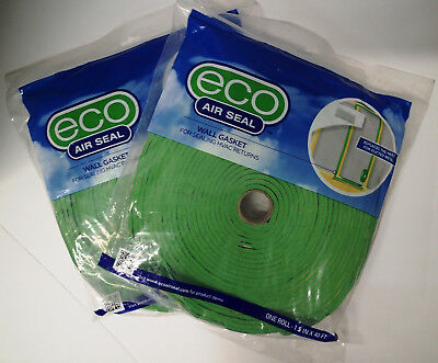 Eco Air Seal Wall Gasket Seal HVAC Returns Insulation Tape (2) 40FT Rolls * NEW