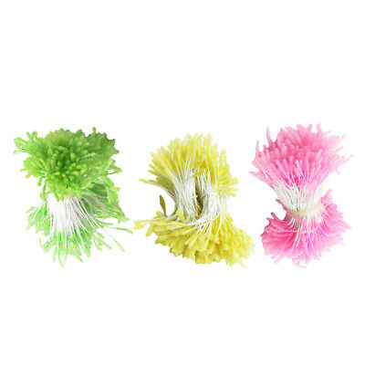 900 Pieces Multicolor Flower Stamens Double Buds Artificial Flower for Craft
