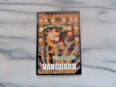 Salamander Vanguard Real Ale Beer Pump Clip Sign