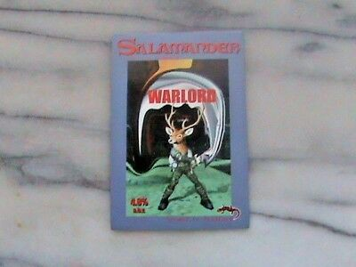 Salamander Warlord Real Ale Beer Pump Clip Sign