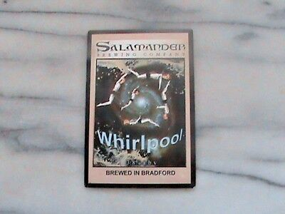 Salamander Whirlpool Real Ale Beer Pump Clip Sign