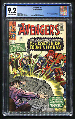 Avengers 13 (1965) CGC 9.2 NM-  1st Appearance of Count Nefaria!