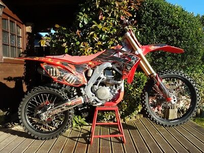 HONDA CRF 250R 2014 TWIN PIPE MOTOCROSS BIKE - great off road bike