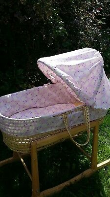 Replacement moses basket covers sheep pink