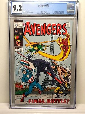 Avengers 71 (1969) CGC 9.2 OW to White pages 1st Appearance of the Invaders!