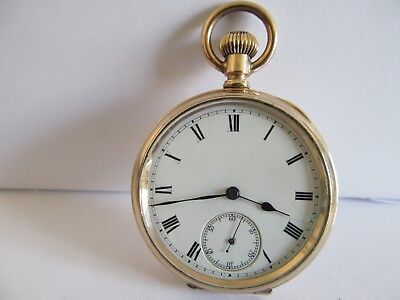 Vintage Swiss made pocket watch  gold filled  in very good condition and working