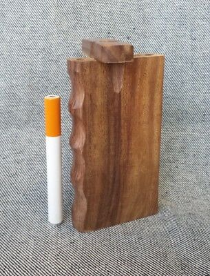 "Handmade Wood 4"" Dugout with One Hitter Bat"