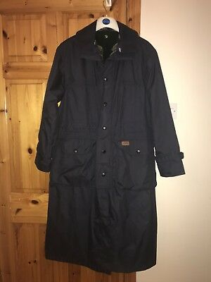 Musto Equestrian Full Length Riding Coat Jacket Size S With Integrated Fleece