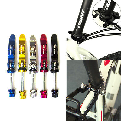 Bike Seat Post Clamps Ultralight Lock Fix Bicycle Seatposts Quick Release Clip