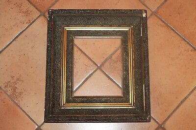 "Antique Ornate Victorian Wood Gesso picture  frame 8 X 10"";15.5X17.5X3"""