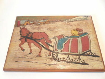 Christmas Wall Plaque - Winter Snow Scene -- Neat!