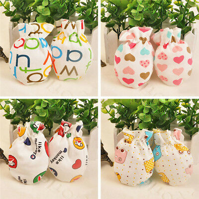 4Pcs New Baby Boy Girl Handguard Gloves Infant Anti Scratch Cotton Mittens