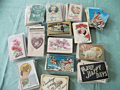 LARGE POSTCARD VINTAGE LOT Greetings 700+ Mostly EARLY 1900'S TO Chrome