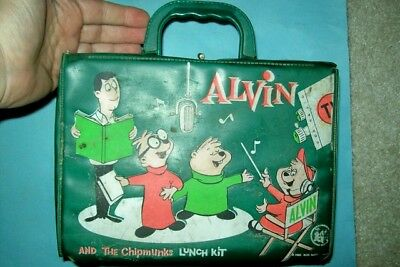 Vintage 1963 Alvin and the Chipmunks Vinyl Lunchbox by Thermos
