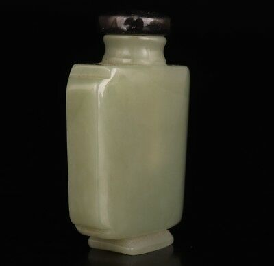 Natural Genuine Jade Snuff Bottle Statue Old Hand Sanding Crafts Collection