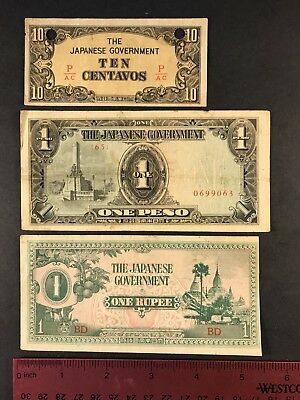 Mr 37 WWII Japanese Invasion Currency Burma Philippines
