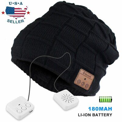 Outdoor Sport Warm Beanie  Music Hat Wireless Bluetooth Stereo Headset Headphone