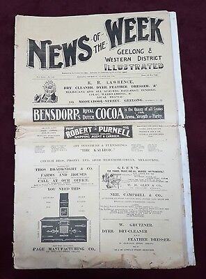Ww1 Era Newspaper News Of The Week Geelong & Western District Illustrated 1908