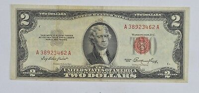 1953 $2.00 Red Seal United States Currency Note *025