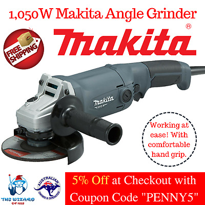 Angle Grinder Makita Professional Soft Grip 1050W 125mm 11,000rpm Safety Control
