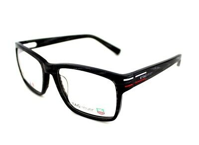 RARE New Authentic TAG HEUER Black Marble Carbon EYE Glasses Frame TH 0536 003