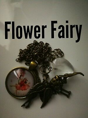 Code 345 Flower Fairy Crystal Infuse Necklace Fairyologist cert by Doreen Virtue