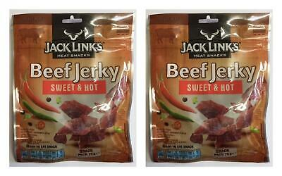 Jack Links Beef Jerky Sweet and Hot 75g Bags - 2 Packs