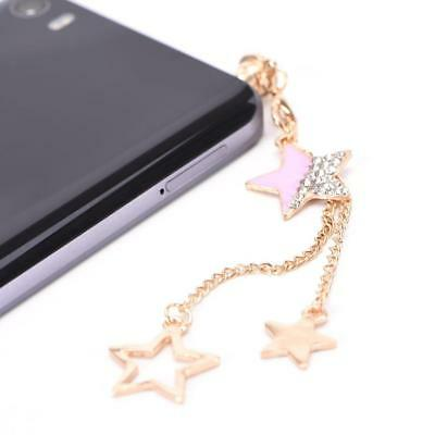 Star Design 3.5mm Tassels Dust Plug Earphone Jack Plug Headset Stopper Cap -AU