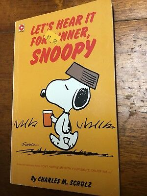 Charles M Schultz Let's Hear it For Dinner Snoopy Vintage 1988 Snoopy comic