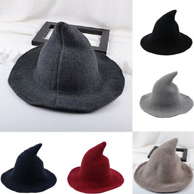 17ad312267e WOMENS SHARP POINTED Wool Witch Hat Cap Made From High Quality Sheep ...