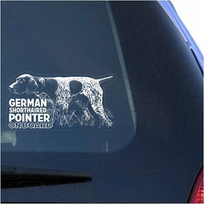 German Shorthaired Pointer Clear Vinyl Decal Sticker for Window GSP Hunting Dog