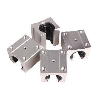 4X SBR20UU 20mm Aluminum Open Linear Router Motion Bearing Shaft Bushing Block