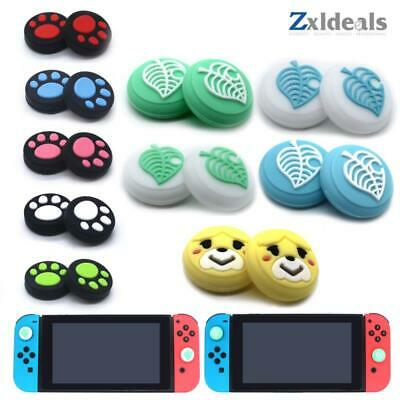 Cat Paw Thumbstick Cap Cover for Nintendo Switch Joy-Con Thumb Grip Red Pink